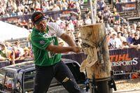 Der neue Deutsche Meister Danny Mahr beim Standing Block Chop