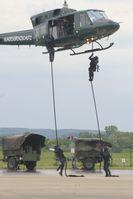 Abseilvorgang der Spezialeinheit GSG 9
