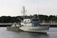 Minenjagdboot HOMBURG M1069 im Marinetuetzpunkt Kiel