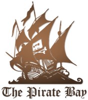 TPB-Logo Piratenschiff und integriertem Logo der Kampagne Home Taping Is Killing Music