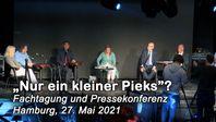 """Bild: SS Video: """"""""Nur ein kleiner Pieks""""? – Welche Risiken bergen die neuen Covid-19-Impfstoffe? (Fachtagung in Hamburg, 27.05.2021)"""" (https://tube.aerztefueraufklaerung.de/videos/watch/baaede3d-7e35-47cb-9d28-c6c2df410503) / Eigenes Werk"""