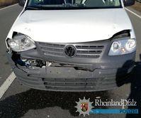 Der Frontschaden am VW des 38 Jahre alten Fahrers.
