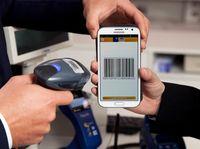 Zahlungsvorgang mittels Smartphone und einer Bezahl-App.
