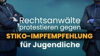 """Bild: Screenshot Video: """" Rechtsanwälte protestieren gegen Stiko-Impfempfehlung für Jugendliche!"""" (www.kla.tv/19658) / Eigenes Werk"""