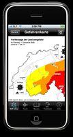 Abrufen des Lawinenbulletins mit White Risk mobile