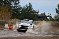 """Das tschechische Duo Jan Cerny/Petr Cernohorsky sicherte sich im SKODA FABIA R5 den dritten Rang.  Bild: """"obs/Skoda Auto Deutschland GmbH/Sascha Dörrenbächer"""""""