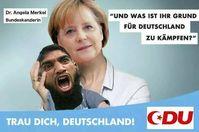 Angela Merkel ist nicht überall beliebt...