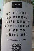 Ein Wahlplakat in den USA von US-Bürgern (2020), (Symbolbild)