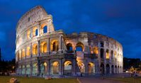 Das Kolosseum; erbaut 80 n.Chr.