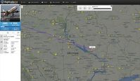 Bild: Screenshot: flightradar24.com