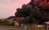 Chemie-Großbrand in Bitterfeld-Wolfen