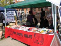 Infostand der Roten Hilfe 2013 in Hannover (Symbolbild)