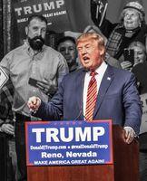 Donald Trump während einer Wahlkmapf-Veranstaltung 2016. Bild: Darron Birgenheier from Reno, NV, USA - CC BY-SA 2.0