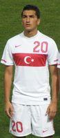 Nuri Şahin (2010) im Nationaltrikot der Türkei.