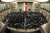 Plenarsaal des Sejm in Polen