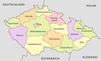 Administrative Gliederung Tschechiens