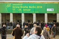 Internationale Grüne Woche 2014, morgendlicher Messebeginn am Haupteingang. Bild: Messe Berlin GmbH