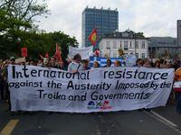 Transparent auf der Deomonstration am 19. Mai