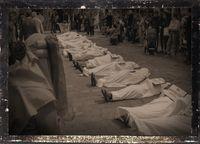 Extinction Rebellion pflegt einen Totenkult (hier in London) und wurde von Antisemiten  Roger Hallam mitgegründet (Symbolbild)