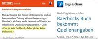 Die Kanzlerkandidatin Baerbock in der breiten Kritik (Symbolbild)