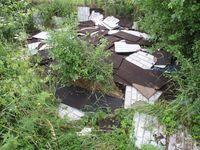 Asbestplatten Bild: Polizei