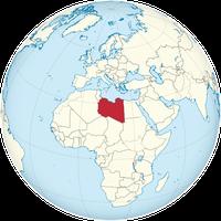 Libyen auf der Karte