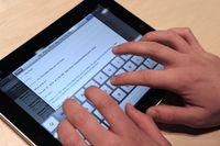Apple iPad mit Bildschirmtastatur