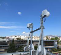 Die Richtfunkverbindung in Athen, Griechenland  Bild: Ericsson GmbH Fotograf: Ericsson