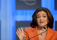 Sheryl Sandberg beim Weltwirtschaftsforum 2013