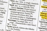 Neu im Duden: twittern. Bild: obs/Duden