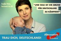 AfD Wahlplakat mit Frauke Petry und ihrem neugeborenen Sohn (Symbolbild)