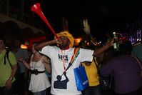 Ein Vuvuzela-Bläser. Bild: flowcomm