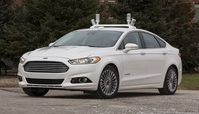 Fords Fusion Hybrid: modifizierter Prototyp im Test. Bild: corporate.ford.com