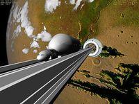 Weltraumaufzug: mit Nanoröhren nicht machbar. Bild: Bruce Irving, flickr.com