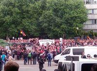 Demonstration am 27. August in Chemnitz