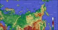 Topografie von Russland