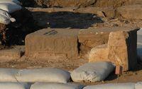 Der Basalt-Tisch, dessen Verzierungen Aufschlüsse über seine genaue Funktion geben sollen. Quelle: Bild: Kinneret Regional Project. (idw)