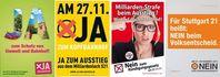 Plakatwerbung zur Volksabstimmung