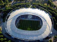 Luftbild des Stadions