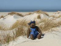 """Auch ein Teddy braucht mal Urlaub. Jeder siebte deutsche Erwachsene reist mit Kuscheltier - laut repräsentativer lastminute.de-Umfrage. Bild: """"obs/lastminute.de"""""""