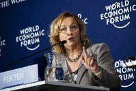 Maria Fekter beim Weltwirtschaftsforum, 2011