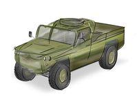 Eine Skizze des zukünftigen Fahrzeugs der Spezialkräfte.  Bild: Defenture Fotograf: PIZ Ausrüstung, Informationstechnik und Nutzung