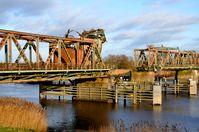 Die Friesenbrücke nach der Kollision