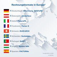 Rechnungs-Standards in Europa Bild: Editel