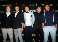 One Direction von links:Niall Horan, Liam Payne, Harry Styles, Zayn Malik, Louis Tomlinson