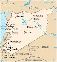 Karte der Arabischen Republik Syrien Bild: de.wikipedia.org