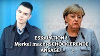 """Bild: SS Video: """"ESKALATION! Merkel macht SCHOCKIERENDE ANSAGE!"""" (https://youtu.be/p_AkBpHWYNY) / Eigenes Werk"""