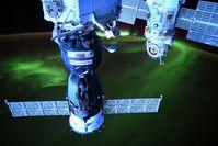 Polarlichter unter der Internationalen Raumstation