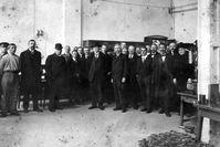 Werksbesuch von Staatspräsident Masaryk in Mladá Boleslav am 3. Mai 1919. Bild: SMB Fotograf: Skoda Auto Deutschland GmbH