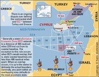 Während sich Israel, Zypern, die Türkei und der Libanon um die riesigen Gasfelder vor ihren Küsten streiten, ist es um den weitaus größten Eigner der Festlandssockel im östlichen Mittelmeer vergleichsweise still. Griechenland war für die Bankster der Einstieg in die inszenierte Eurokrise und mit einem solventen Griechenland wäre der Plan zur Plünderung der stabilen Nordstaaten in der Eurozone gescheitert. Griechenlands Goldgrube wird jetzt unter der Fuchtel der EZB und des IWF an die Bankster/Energiemafia verscherbelt. Deswegen hören wir so wenig über Griechenlands Öl- und Erdgasvorkommen. Auch die zypriotischen Gasfelder werden unter der Hand an die Globalisten verhökert. Bild: politia.org